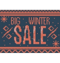 big winter sale banner vector image vector image