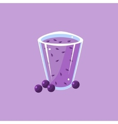 Blueberry Smoothie Cartoon vector image vector image