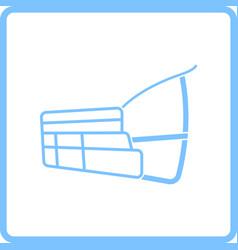 dog muzzle icon vector image