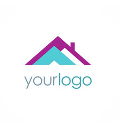 roof realty logo vector image