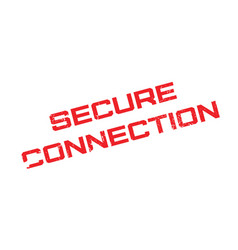 Secure connection rubber stamp vector
