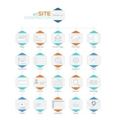 Set of Flat Website Templates Navigation vector image