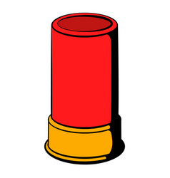 shotgun shell icon icon cartoon vector image