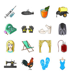 sports fashion clothing and other web icon in vector image