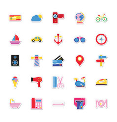 summer and holidays icons 6 vector image