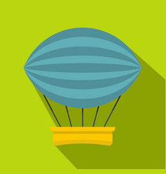 aerial transportation icon flat style vector image vector image