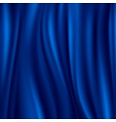 Blue silk satin material wavy luxury vector image