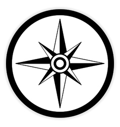 Compass button on white vector image