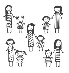 Cute card with mother and child vector image