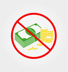 do not pay cash sign vector image vector image