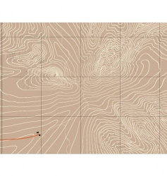 mountain contours vector image vector image