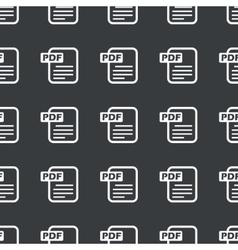 Straight black PDF file pattern vector image vector image