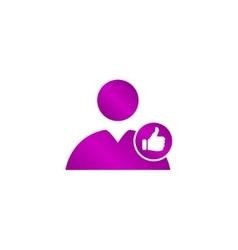 User icon like vector image