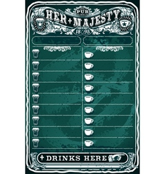 Vintage hand drawn board for pub menu vector