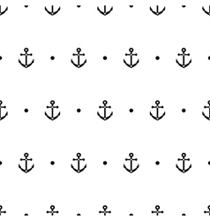 Anchor dot in black and white seamless pattern vector image vector image