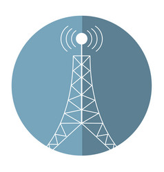 antenna tower broadcast connection shadow vector image vector image