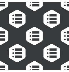 Black hexagon dotted list pattern vector