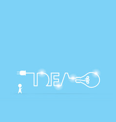 businessman and light bulb idea vector image vector image