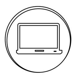 figure laptop emblem icon vector image vector image