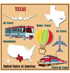 Flat map of Texas vector image vector image