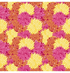 Seamless retro floral background vector image vector image