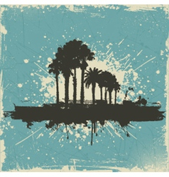 vintage palm tree background vector image vector image
