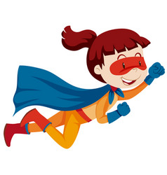 a female super hero character vector image