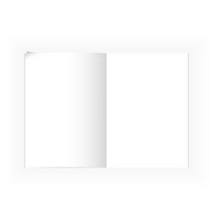 A4 notepad template vector