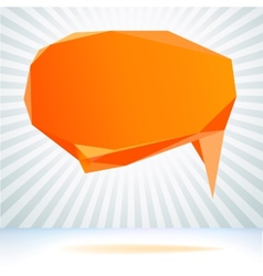 Abstract origami speech bubble background EPS8 vector image