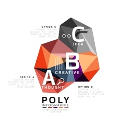 Abstract triangle low poly infographic template vector