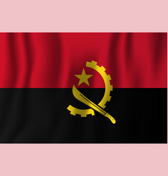 angola realistic waving flag national country vector image