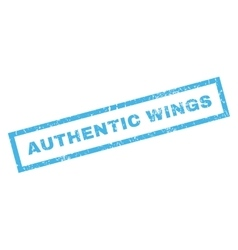 Authentic Wings Rubber Stamp vector image