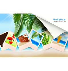 Background with photos vector image