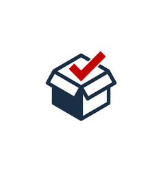 check box logo icon design vector image