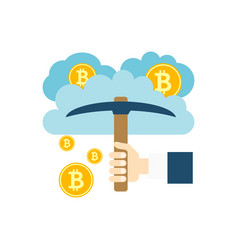 cloud mining icon vector image