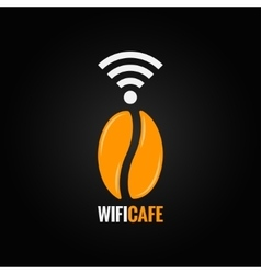 coffee bean design background vector image