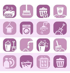 Color cleaning icons set vector