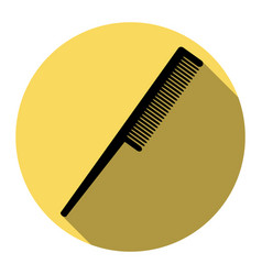 comb sign flat black icon with flat vector image