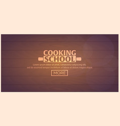 Cooking school courses culinary class vector