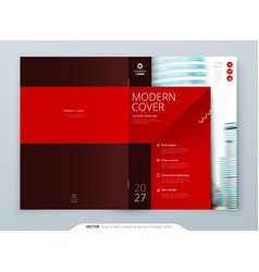 cover template red template for brochure banner vector image
