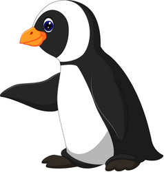 Cute funny emperor penguin vector