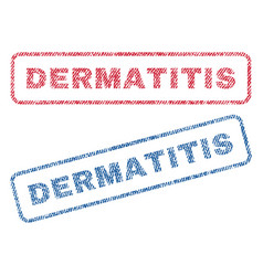 Dermatitis textile stamps vector