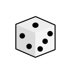 Dice casino las vegas game lucky icon vector