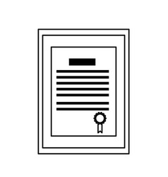 diploma certificate icon image vector image