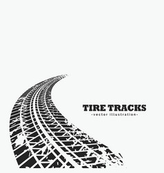 dirty tire tracks fading into the horizon vector image