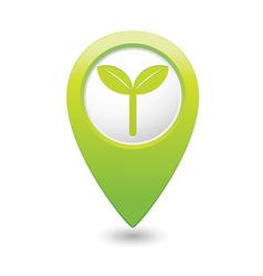 Eco green map pointer vector