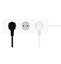 electric extension cord vector image
