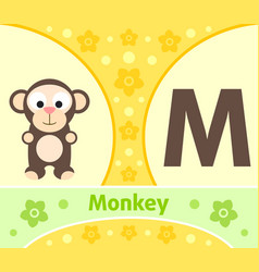English alphabet with monkey vector