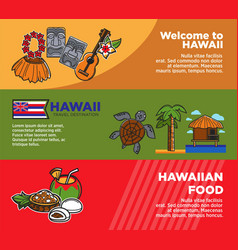 exotic hawaii travel destination promotional vector image
