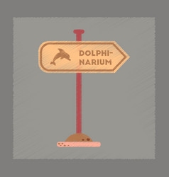 flat shading style icon dolphinarium sign vector image